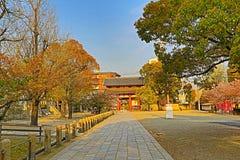 Shitennoji寺庙在Tennoji病区,大阪里 免版税图库摄影