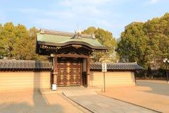 Shitennoji寺庙在Tennoji病区,大阪里 免版税库存图片