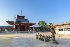 Shitennoji寺庙在Tennoji,日本 库存图片
