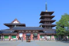 Shitennoji寺庙大阪日本 库存照片