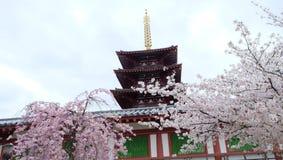 Shitennoji寺庙,大阪 免版税库存照片