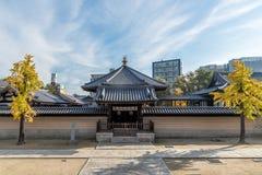 Shitennoji,古庙在大阪,日本 库存照片