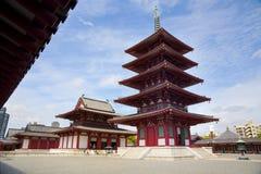 Shitennoji świątynia Fotografia Royalty Free