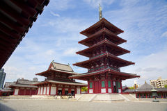 Shitennoji tempel Royaltyfri Fotografi
