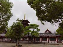 Shitennoji tempel Royaltyfri Foto