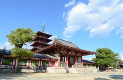 Shitennoji tempel i Osaka, Japan Royaltyfri Fotografi