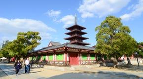 Shitennoji-Tempel in Osaka, Japan Lizenzfreie Stockfotos