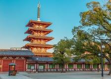 Shitennoji Temple in Osaka Stock Photography