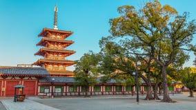 Shitennoji Temple in Osaka Stock Photo