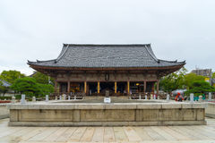 Shitennoji Temple in Osaka, Japan. Osaka, Japan - November 26, 2015: Shitennoji Temple was built by Prince Shotoku between 574 and 622. It is the favorite shrine Stock Images