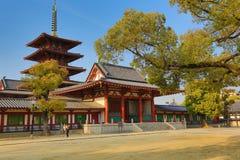 Shitennoji Temple in Tennoji Ward, Osaka Stock Photos