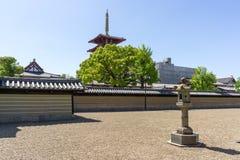 Shitennoji zenträdgård Arkivfoto