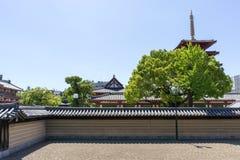 Shitennoji zenträdgård Arkivfoton