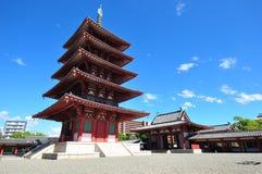 Shitenoji寺庙 免版税库存图片