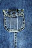Shitr fick- jeans. Royaltyfri Foto