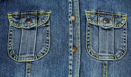 Shitr pocket  jeans. Stock Photography