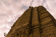 Shiv temple at Baijnath Himachal India. Spire and carvings of the ancient hindu temple dedicated to Shiva at Baijnath in Himachal India. This is a popular stock photography