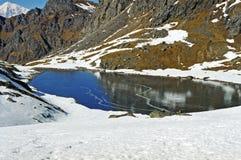 Shiva湖在尼泊尔 免版税库存照片