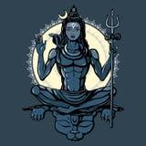 shiva бога индусское иллюстрация вектора