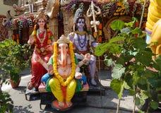 Shiva лорда, parvati богини и идолы ganesha стоковые фото
