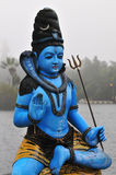Shiva. Blue god Shiva statue in a Hindu sainthood in the middle of Mauritius island stock images