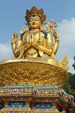 巨型金加德满都尼泊尔雕塑shiva 免版税库存照片