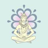 shiva stock de ilustración