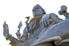 Shiva Abbildung getrennt auf Weiß Stockbild