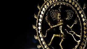 Shiva bóstwo wiruje z dymem na czarnym tle buddhism zdjęcie wideo