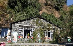 Shiva Cafe in McLeodganj, India Royalty Free Stock Image
