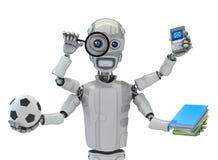 Shiva-cyborg. Three-dimensional model of the multipurpose robot Stock Photos