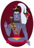 Shiva deity illustration. Royalty Free Stock Photography