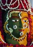 Shiva dekorerade vid matmaterial Arkivfoto