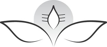 Shiva del signore nella posizione di meditazione illustrazione vettoriale
