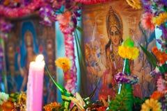 Shiva depiction. Hindu Festival at the Sri Maha Mariamman Indian Temple on Silom Road, Bangkok, Thailand Stock Images