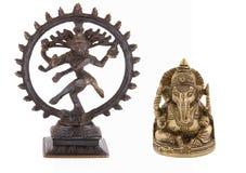 Shiva en beeldje Ganesha stock foto