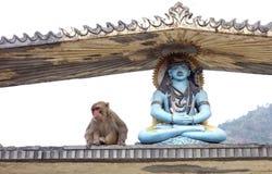 Shiva i Hanuman Zdjęcia Royalty Free
