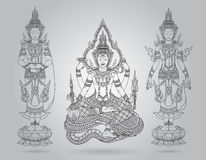 Shiva of line thai tradition,buddha jewelry set Royalty Free Stock Photos