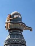 Shiva lingam - hinduiskt symbol royaltyfri foto