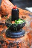Shiva lingam. Monolith statue ,Hindu god Stock Photography