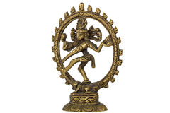 Shiva Nataraja,  isolated on white background Stock Image