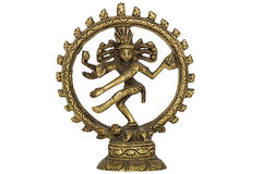 Shiva Nataraja,  isolated on white background Royalty Free Stock Photos