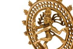 Shiva Nataraja - Lord of Dance. Indian hindu god Shiva Nataraja Lord of Dance isolated on white close up Royalty Free Stock Photography