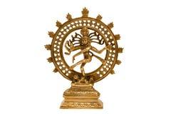 Shiva Nataraja - Lord of Dance. Indian hindu god Shiva Nataraja - Lord of Dance isolated on white Royalty Free Stock Photos