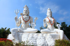 Shiva Parvathi statues. On Kailasagiri hill in Andhra Pradesh state India Royalty Free Stock Images
