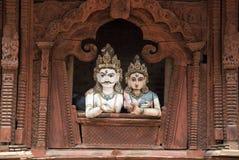 Shiva and Parvati. Statues,in Durbar Square,Kathmandu Stock Image