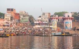 Shiva and Parvati. Holy river of Ganga in Varanasi, Uttar Pradesh, India Royalty Free Stock Photo