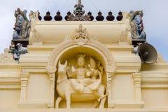 Shiva and Parvati at Pillayarpatti Karpaga Vinayagar temple. Stock Photos