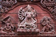 Shiva-Parvati Tempel, Durbar-Vierkant, Katmandu, Nepal Royalty-vrije Stock Afbeelding
