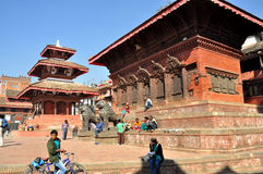 Shiva Parvati Temple. At Kathmandu Durbar Square which is the plaza in front of the old royal palace of the Kathmandu Kingdom. It is one of three Durbar Squares Stock Photography